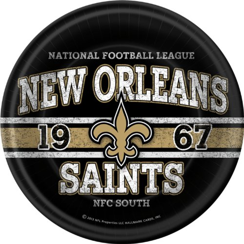 NFL New Orleans Saints Dinner Plates (8)