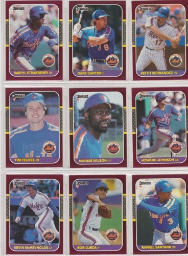 "New York Mets 1987 Donruss ""Opening Day"" Baseball Team Set front-698544"