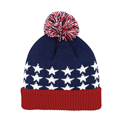 Hats & Caps Shop USA Cuffed Pom Beanie - By TheTargetBuys   (FLAG) (Monster Energy Pom Beanie compare prices)