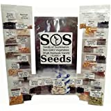 10,000+ Organic Vegetable Seeds 30 Pack Variety