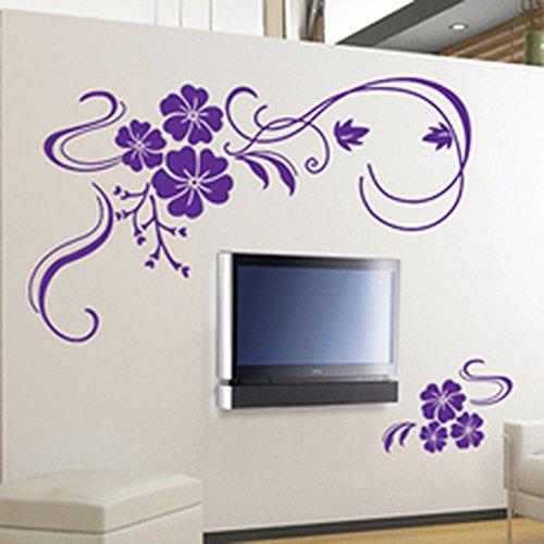 Purple bathroom accessories will brighten up your bathroom - Wall flower design ...