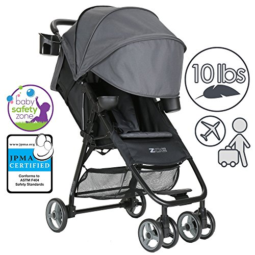 Buy Bargain ZOE XL1 DELUXE Xtra Lightweight Travel & Everyday Umbrella Stroller System (Noah Grey)