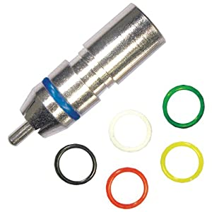 Forza R-603Mbpe Weatherseal Plus High-Performance Compression RCA Connectors, 5 Pack, Mini RG59, 6-Bands