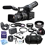 Sony NEX-FS700R Super 35 Camcorder with 18-200mm f/3.5-6.3 PZ OSS Lens + CS Pro Kit: Includes 64GB SDHC Memory Card, SD Card Reader, Sony NP-F970 Replacement Battery, High Definition Wide Angle Lens, 2x Telephoto HD Lens, 4 Piece Macro Lens Set, 3 Piece Filter Kit, UV Filter, Tulip Lens Hood, Cap Keeper, Professional Carrying Case, Cleaning Pen, Starters Kit & CS Microfiber Cleaning Cloth