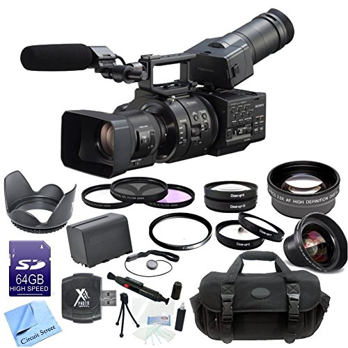 Sony Nex-Fs700R Super 35 Camcorder With 18-200Mm F/3.5-6.3 Pz Oss Lens + Cs Pro Kit: Includes 64Gb Sdhc Memory Card, Sd Card Reader, Sony Np-F970 Replacement Battery, High Definition Wide Angle Lens, 2X Telephoto Hd Lens, 4 Piece Macro Lens Set, 3 Piece F