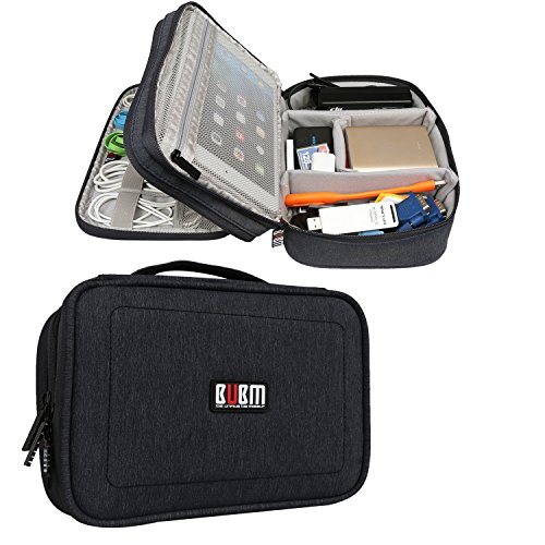 bubm-double-layers-travel-gadget-organiser-case-electronics-accessories-bag-black