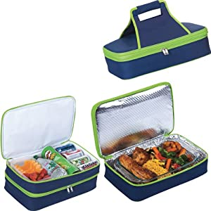 Picnic Plus Entertainer Hot Cold Food Carrier Blackred from Picnic Plus