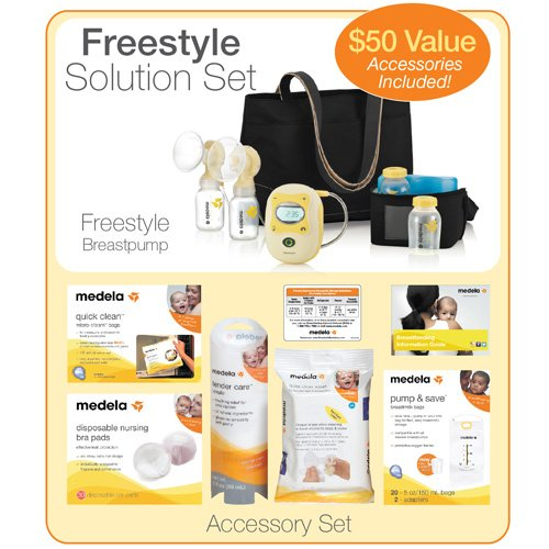 Medela Electric Breastpump – Freestyle Starter Set w/ Free Accessories