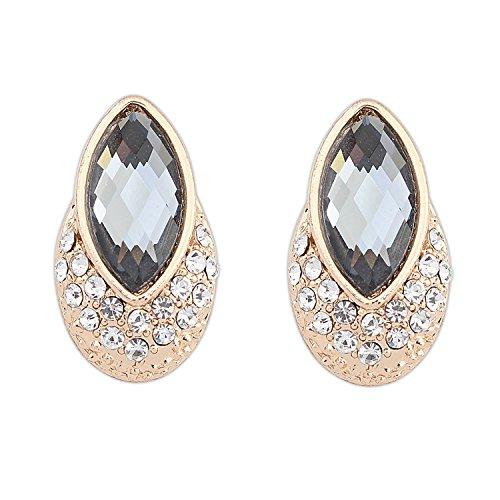 Jew : European And American Ruili Trend Fashion Street Beat Temperament Exquisite Luxury Gem Earrings