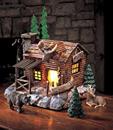 Nature\'s Lighted Lodge Collectible Tabletop Set by Collections Etc