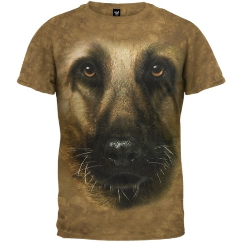 German Shepherd Face Tee Shirt