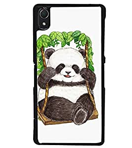 Printvisa Animated Cute Panda On Swing Back Case Cover for Sony Xperia Z2::Sony Xperia Z2 L50W D6502 D6503