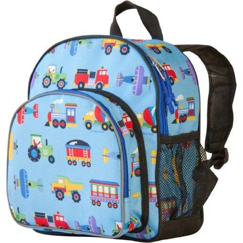 Wildkin Olive Kids Trains, Planes and Trucks Pack 'n Snack Backpack