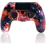 CHENGDAO PS4 Controller Wireless Gamepad for Playstation 4/Pro/Slim/PC with Motion Motors and Audio Function, Mini LED Indicator, USB Cable and Anti-Slip (Galaxy) (Color: Galaxy)