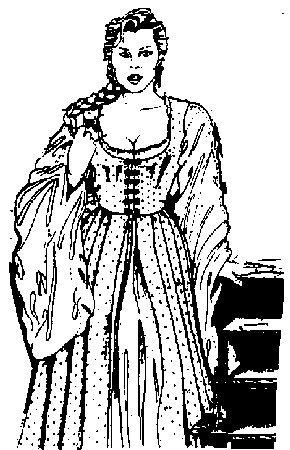 Irish Dress and Underskirt Pattern