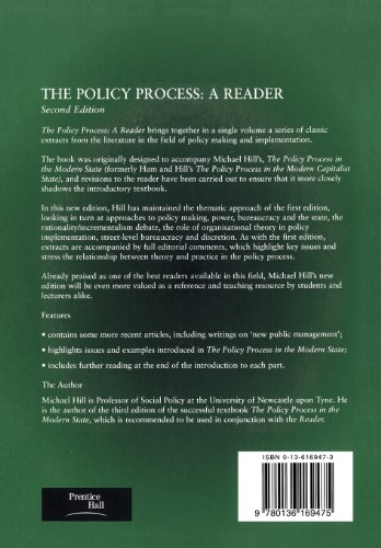 Policy Process: A Reader