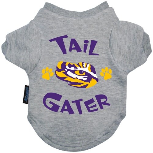 [NCAA LSU Tigers Tail Gater Pet T-Shirt, X-Large, Gray] (Lsu Mascot Costume)