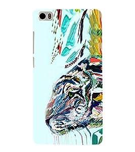 Tiger Illustration Painting 3D Hard Polycarbonate Designer Back Case Cover for Xiaomi Mi 5 :: Redmi Mi5