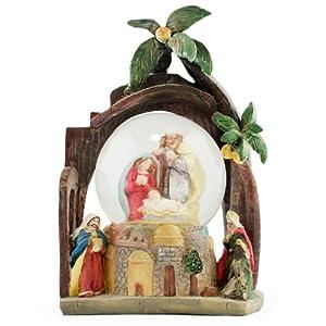 Holy Family Nativity Snow Globe