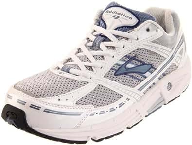Brooks Women's Addiction 9 Road Running Shoe,Silver/Infinity/PearlWhite/Twilight/Black,5 2A