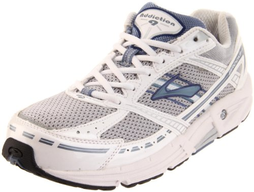 Brooks Women's Addiction 9 Road Running Shoe,Silver/Infinity/PearlWhite/Twilight/Black,6 2A