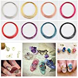 Fission Color 6 : 1 Roll 10m Colorful Nail Art Copper Wire Line DIY Manicure Nail Art Decoration Tool