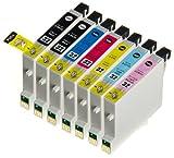 (7 色セット) InkHero Epson IC32,IC6CL32 ICBK32, ICC32, ICLC32, ICLM32, ICM32, ICY32 PM-A850, PM-A870, PM-A890, PM-D750, PM-D770, PM-D800, PM-G700, PM-G720, PM-G730, PM-G800, PM-G820 【互換インクカートリッジ 】