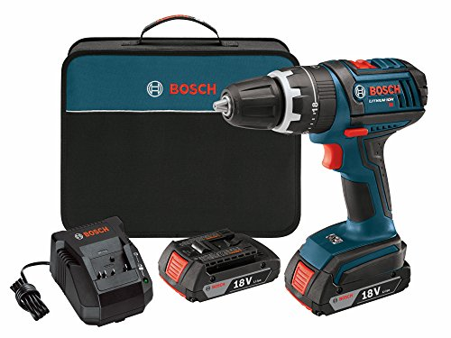 Bosch DDS181-02 18-Volt Lithium-Ion 1/2-Inch Compact Tough Drill/Driver Kit with 2 High Capacity Batteries, Charger and Case (Bosch 18v Drill compare prices)