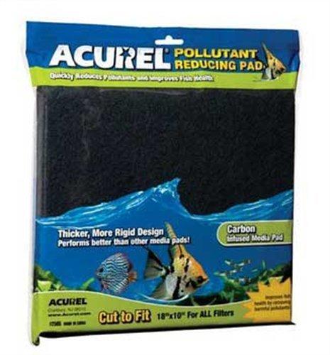 Imagen de Acurel LLC contaminantes reducción Media del cojín, acuario y estanque filtro accesorio, 10 pulgadas por 18 pulgadas