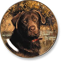 Chocolate Lab by Robert Abbett 9.25 inch Decorative Collector Plate