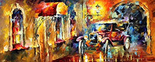 Decorative Room (Unframe And Unstretch) 100% Hand-Painted Palette Knife Oil Painting On Canvas,Vintage Impression,40 X 16 Inch (100 Cm X 40 Cm)