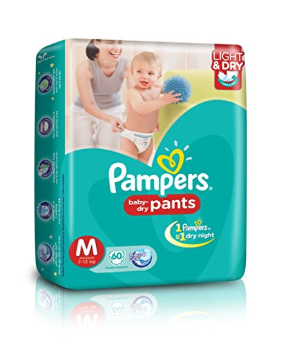 Pampers Medium Size Diapers Jumbo Pack 66 Count