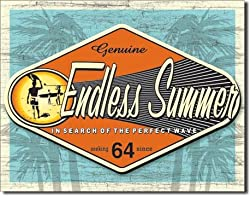 Endless Summer - Genuine Metal Tin Sign 16&quot;W x 12.5&quot;H