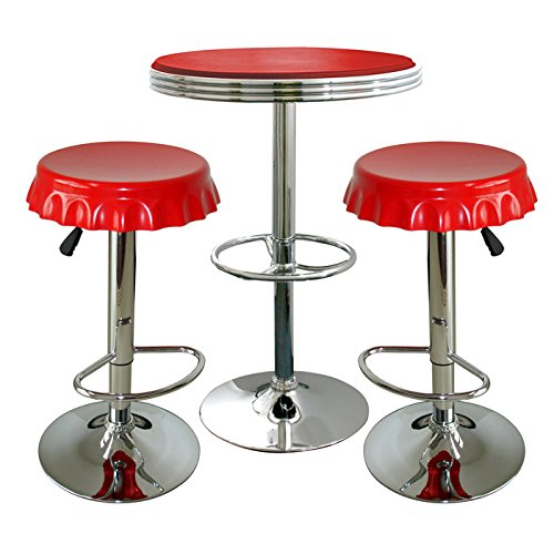 Small Red Kitchen Table Bistro Style