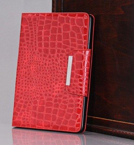 TOP iPad Mini Crocodile Pattern Leather Case in RED