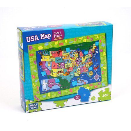 US Map 2-in-1 Jigsaw Puzzle