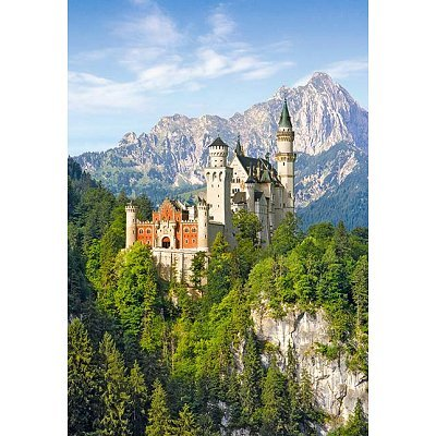 1000 Teile Puzzle - Neuschwanstein / Landschaft - Schloß Deutschland