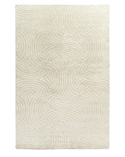 Surya Luminous Swirls Hand-Knotted Rug, Moss/Ivory, 5' x 8'