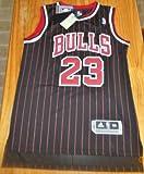 NBA Chicago Bulls Black Red Stripe Jersey, Michael Jordan
