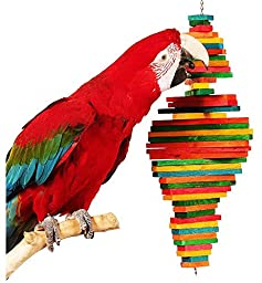 Bonka Bird Toys 1811 Double Pyramid Bird Toy parrot cage toys cages macaw amazon cockatoo conure
