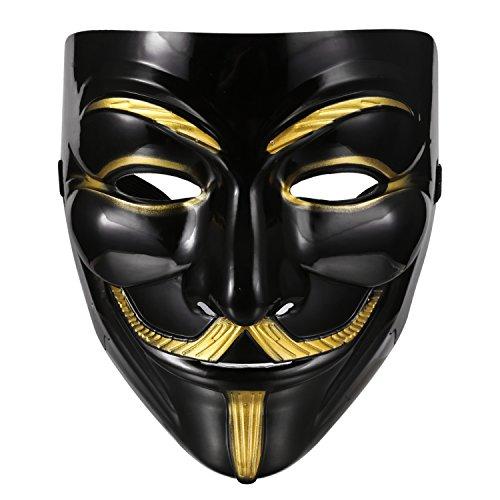 Aulei Vendetta Maske Luxus V wie Maske Guy Fawkes für Halloween Karneval Cosplay
