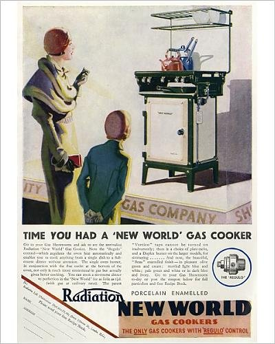 Photographic Print of Advert for the Radiation New World Gas Cooker
