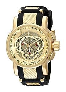 Gold Tone S1 Quartz Chronograph Strap Black Strap