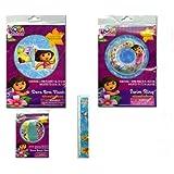 """4-piece Dora The Explorer Pool Toys Swim Set : Dora Beach Ball (12""""), Dora Swim Ring (20""""), Dora The"""