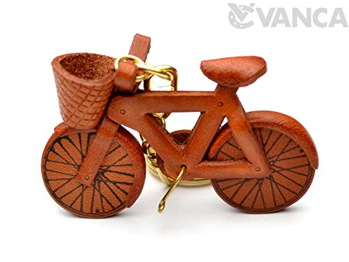 Bicycle Leather Vehicles KH Keychain VANCA CRAFT-Collectible keyring Made in Japan