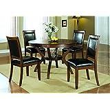Coaster Dining Table, 48-Inch, Dark Walnut