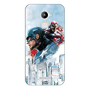 Hamee Marvel Civil War Captain America Iron Man Licensed Hard Back Case Cover For Coolpad Note 3 / Cool Pad Note Three Cover ( Captain America and Iron Man)