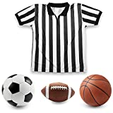 Crown Sporting Goods Mens Official Striped Referee/Umpire Jersey