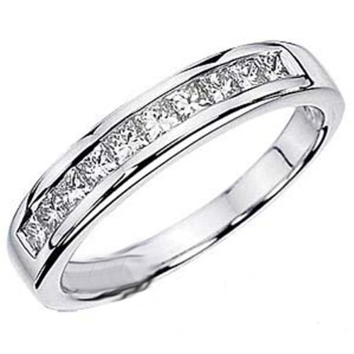 0.75 Carat (ctw) 14k White Gold Princess Diamond