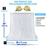 #1 The Best Mosquito Net By NATURO - The Largest Double Bed Mosquito Net Canopy - Insect Malaria Zika Repellent -Free Bonuses: 2 Insect Repellent Bracelets , A Full Hanging Kit & Carry Bag+Free E-Book